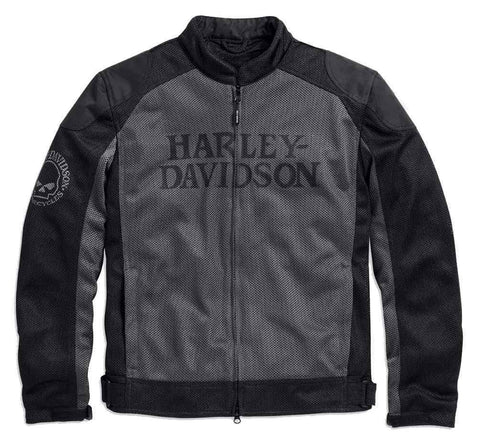 Harley-Davidson® Men's Riding Mesh Jacket, Willie G. Skull