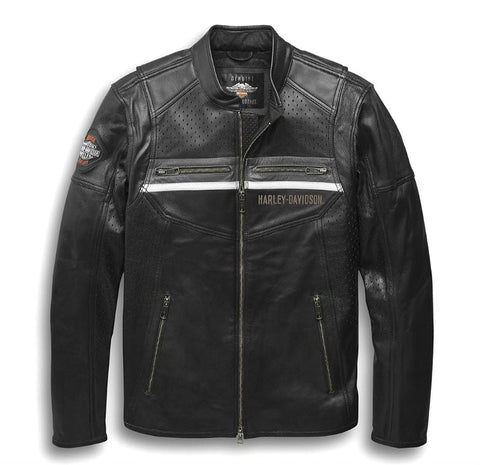 Harley-Davidson® Mens Llano Perforated Leather Riding Jacket