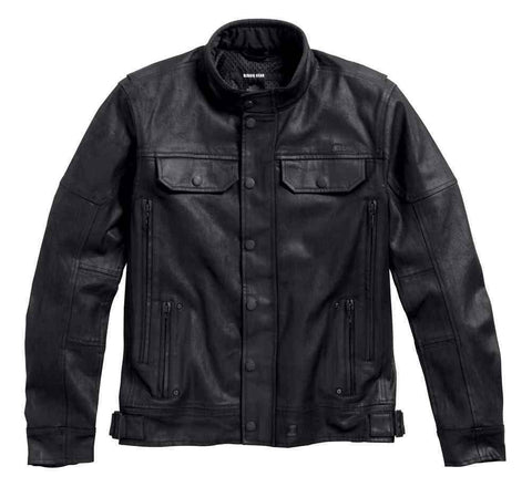 Harley-Davidson® Mens Black Label Coated Denim Riding Jacket