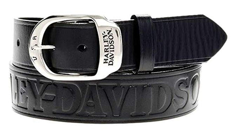 Harley-Davidson® Men's Slide Over Belt Black Leather