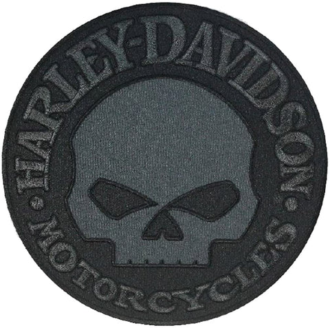 Harley-Davidson® Black Willie G Skull Emblem Patch