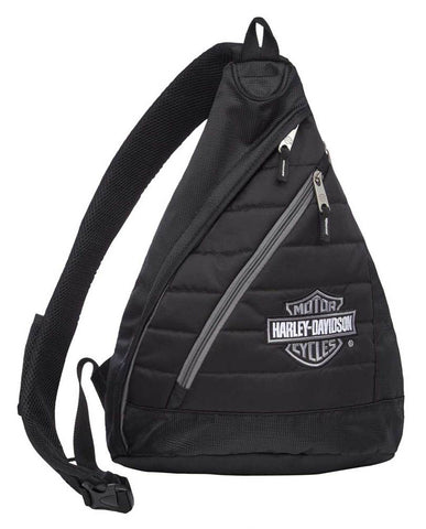 Harley-Davidson® Bar & Shield Quilted Travel Sling Backpack