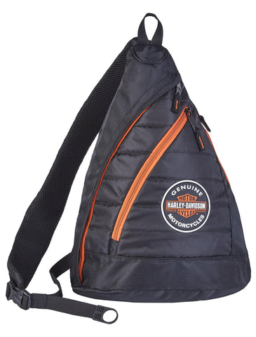 Harley-Davidson® Genuine B&S Quilted Travel Sling Backpack