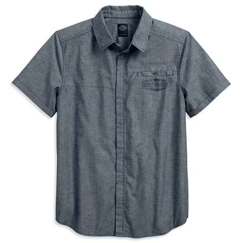 Harley-Davidson® Washed Textured Mens Shirt