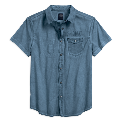 Harley-Davidson® Poplin Men's Pocket Shirt