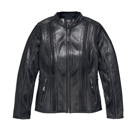 Harley-Davidson® Womens Venos Perforated 3-in-1 Leather Jacket