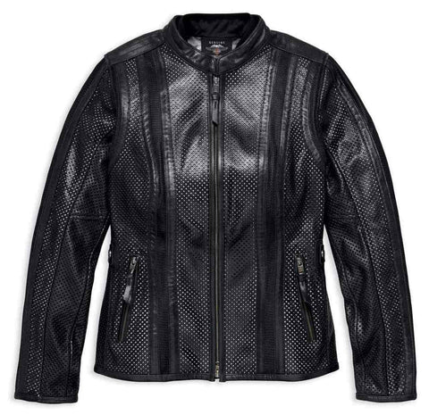 Harley-Davidson® Women's Venos Perforated Leather Jacket w/ Coolcore