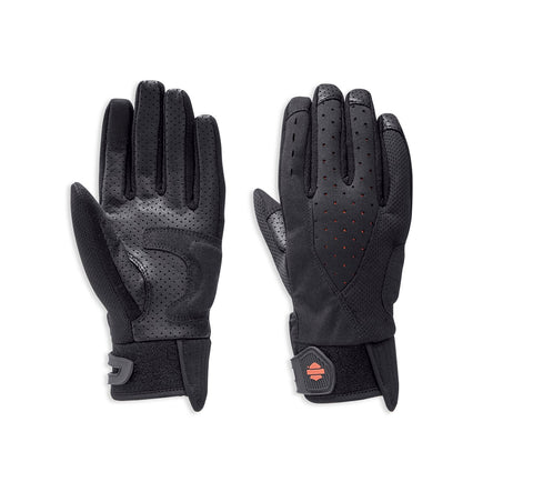 Harley-Davidson® Womens Abilene Mixed Media Gloves