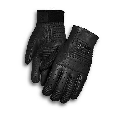 Harley-Davidson® Men's Stormy Leather Full-Finger Gloves