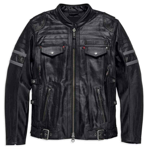 Harley-Davidson® Men's Triple Vent System Wick Twister Leather Jacket