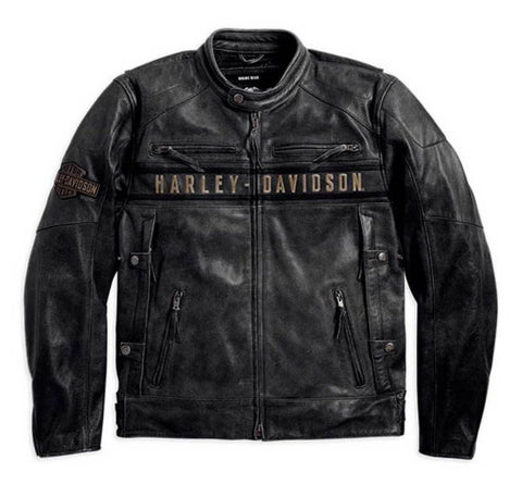 Harley-Davidson® Men's Passing Link Triple Vent Leather Jacket