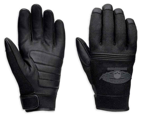 Harley-Davidson® Men's Winged Skull Full-Finger Leather Gloves