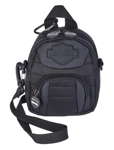 Harley-Davidson® Midnight B&S Quilted Mini-Me Backpack