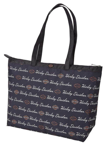 Harley-Davidson® Women's Signature B&S Shopper Tote Bag