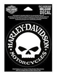 Harley-Davidson® Hubcap Skull Small Decal