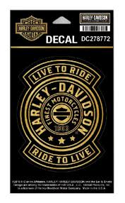 Harley-Davidson® Golden Harley Shield Decal