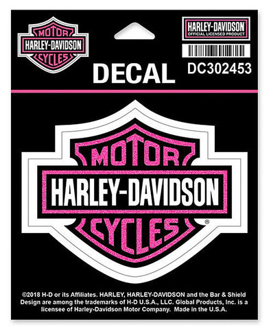Harley-Davidson Glitter Bar & Shield Decal