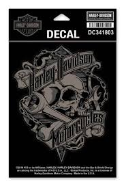 Harley-Davidson® Grim Skull & Wrench Decal