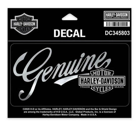 Harley-Davidson® Premium Genuine B&S Decal, MD Size - 5.75 x 3 inches