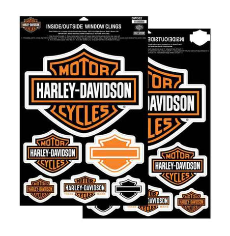 Harley-Davidson® Bar & Shields Window Cling, Inside/Outside Double Sided
