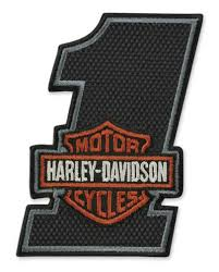 Harley-Davidson® Embroidered #1 Bar & Shield Texture Emblem Patch