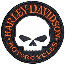 Harley-Davidson® Reflective Patch, Willie G. Skull Hubcap Emblem