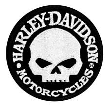 Harley-Davidson® Hubcap Skull Small Patch