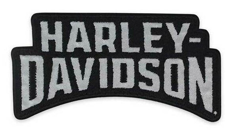 Harley-Davidson® Reflective Insignia H-D Woven Emblem Patch, Blk/Gry