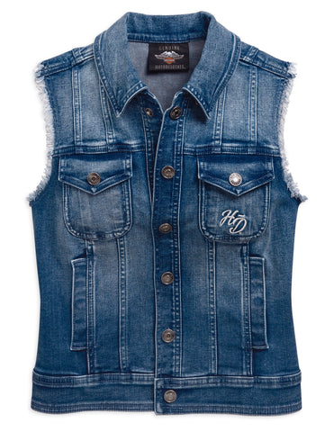 Harley-Davidson® Womens Flag Denim Vest