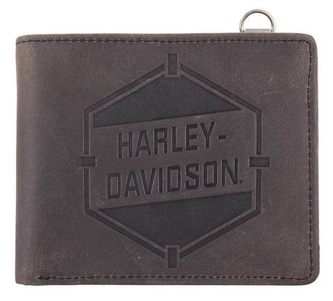 Harley-Davidson® Men's Spare Parts Leather Bi-Fold Wallet