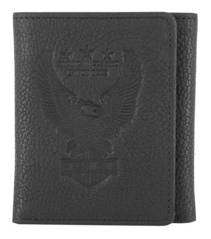 Harley-Davidson® Men's Liberty Eagle Tri-Fold Leather Wallet w/ RFID
