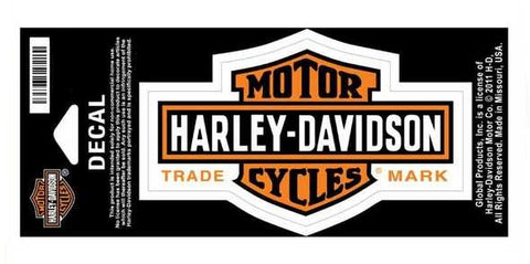 Harley-Davidson® Bar and Shield Decal Orange-Trademark