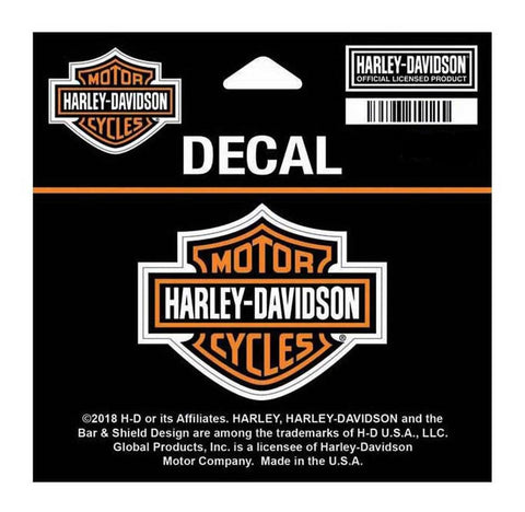 Harley-Davidson® Bar and Shield Decal Orange