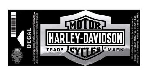 Harley-Davidson® Bar and Shield Decal Chrome-Trademark