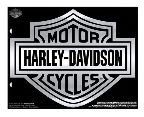 Harley-Davidson® Bar and Shield Decal Chrome
