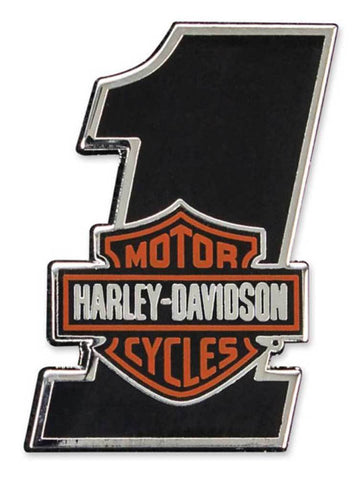 Harley-Davidson® #1 Bar & Shield Logo Cloisonne Hard Enamel Pin