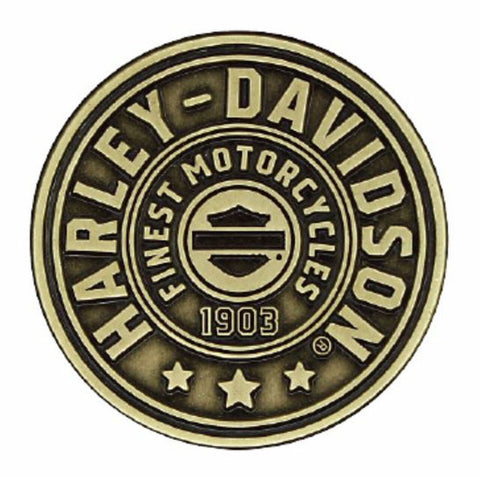 Harley-Davidson® 2D Die Cast Harley Shield Pin, Antiqued Bronze Finish