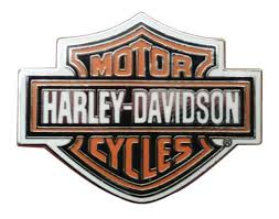 Harley-Davidson® Orange Bar & Shield Silver Pin