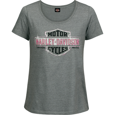 Multiply Grey Ladies Short Sleeve Tee