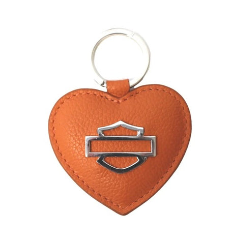 Harley-Davidson Women's Bar & Shield Heart Medallion Key Fob