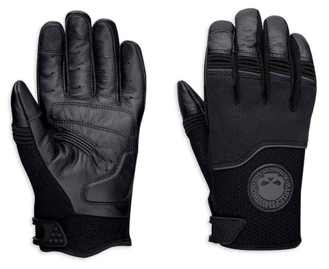Harley-Davidson® Men's Newhall Mixed Media Full-Finger Gloves