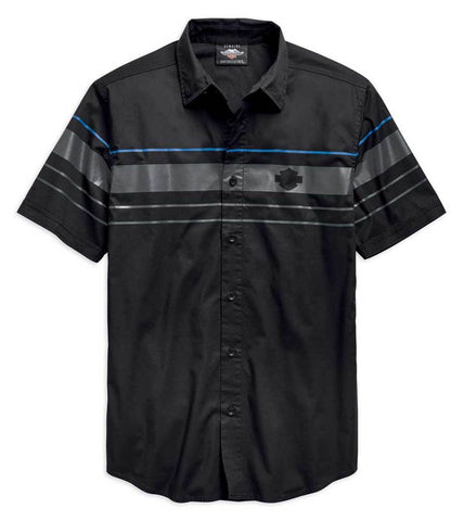 Harley-Davidson® Men's Stripe Logo Woven Shirt