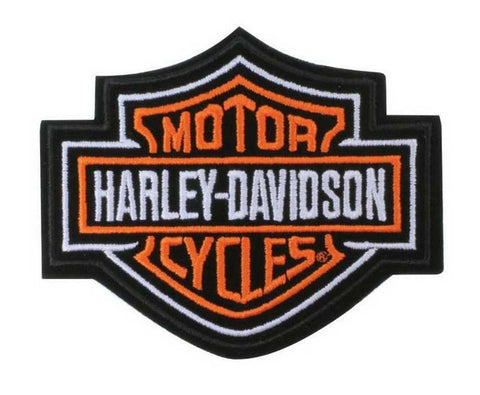 Harley-Davidson® Bar & Shield Patch Orange