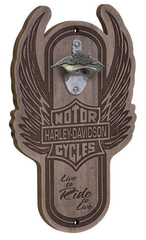 Harley-Davidson® Magnetic Wooden Bottle Opener