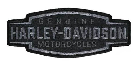 Harley-Davidson® Embroidered Velocity Text Emblem Patch