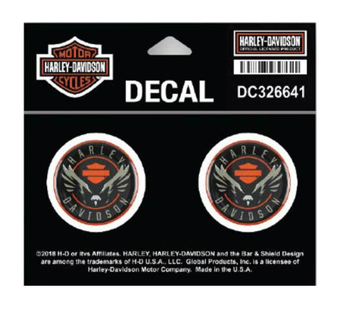 Harley-Davidson® Velocity Eagle Gel Dome Decals
