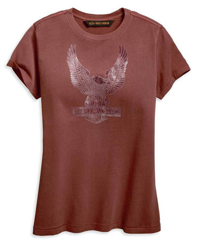 Harley-Davidson® Women's Flocked Eagle Tee