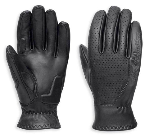 Harley-Davidson® Womens Thayne Perforated Leather Gloves