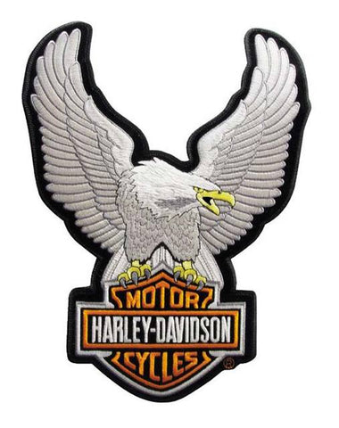 Harley-Davidson® Eagle Winged Silver Patch