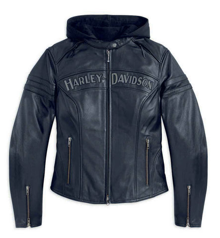 Harley-Davidson® Womens Miss Enthusiast 3-in-1 Leather Jacket